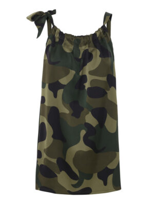 Camouflage Ruffle Tie Top (primary)