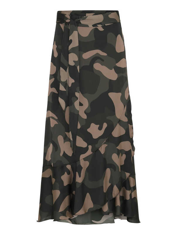 Camouflage Ruffle Wrap Skirt (long) (primary)